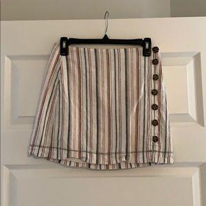 Free People Stripes On Sunday Mini Skirt